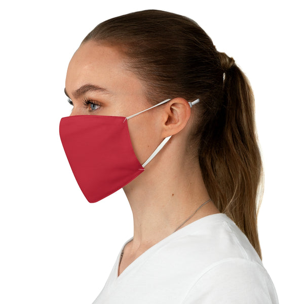 Small Logo Fabric Face Mask (Red)
