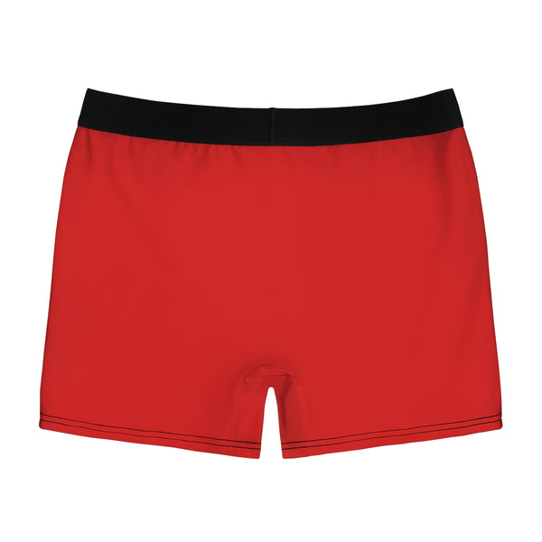 Men's Red Boxer Briefs (White Crown)