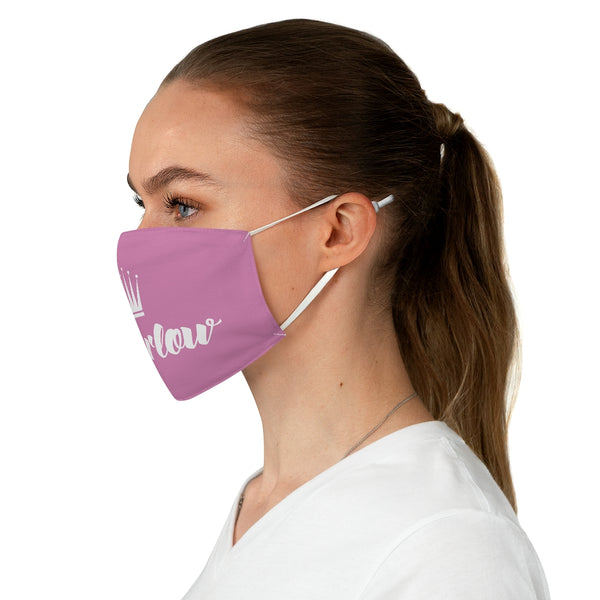 Marlow Logo Fabric Face Mask (Pink)