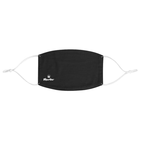 Small Logo Fabric Face Mask (Black)