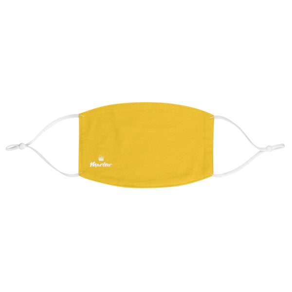 Small Logo Fabric Face Mask (Yellow)