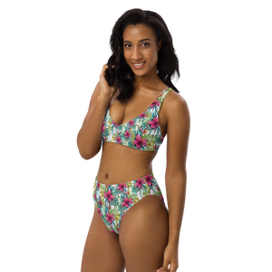 Tropical Recycled High-Waisted Bikini