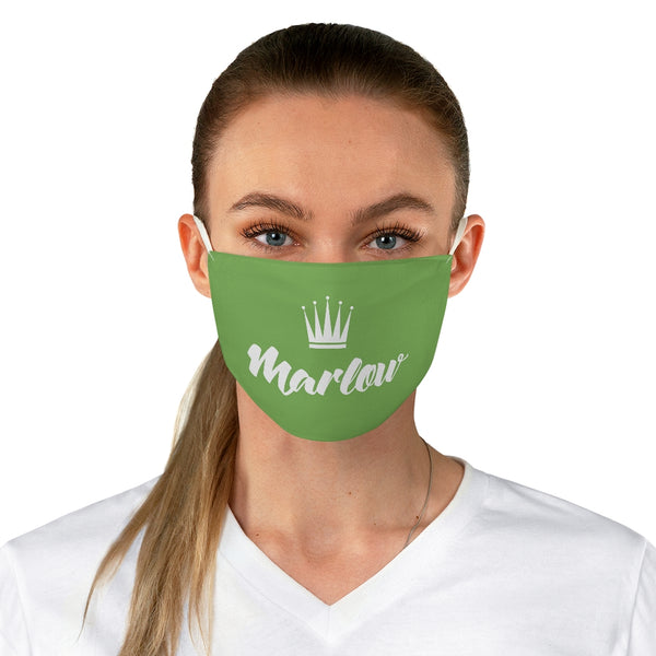 Marlow Logo Fabric Face Mask (Green)