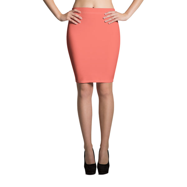 Living Coral Pencil Skirt