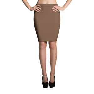 Toffee Pencil Skirt