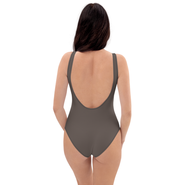 Brown Granite One-Piece Swimsuit
