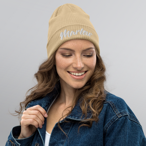 Marlow Font Organic Ribbed Beanie