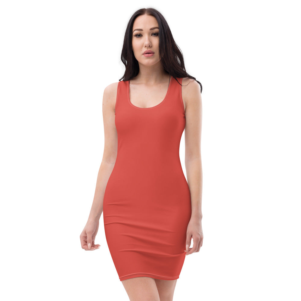 Fiesta Red Cut & Sew Dress