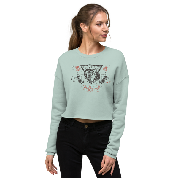 Space Love Crop Sweatshirt