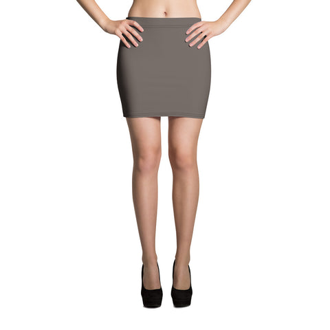Brown Granite Mini Skirt