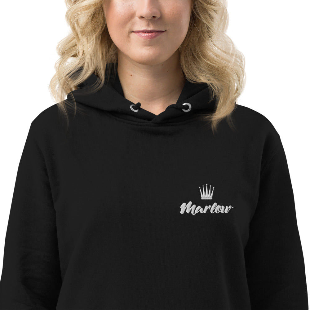 Marlow Crown Logo Embroidered Hoodie Dress