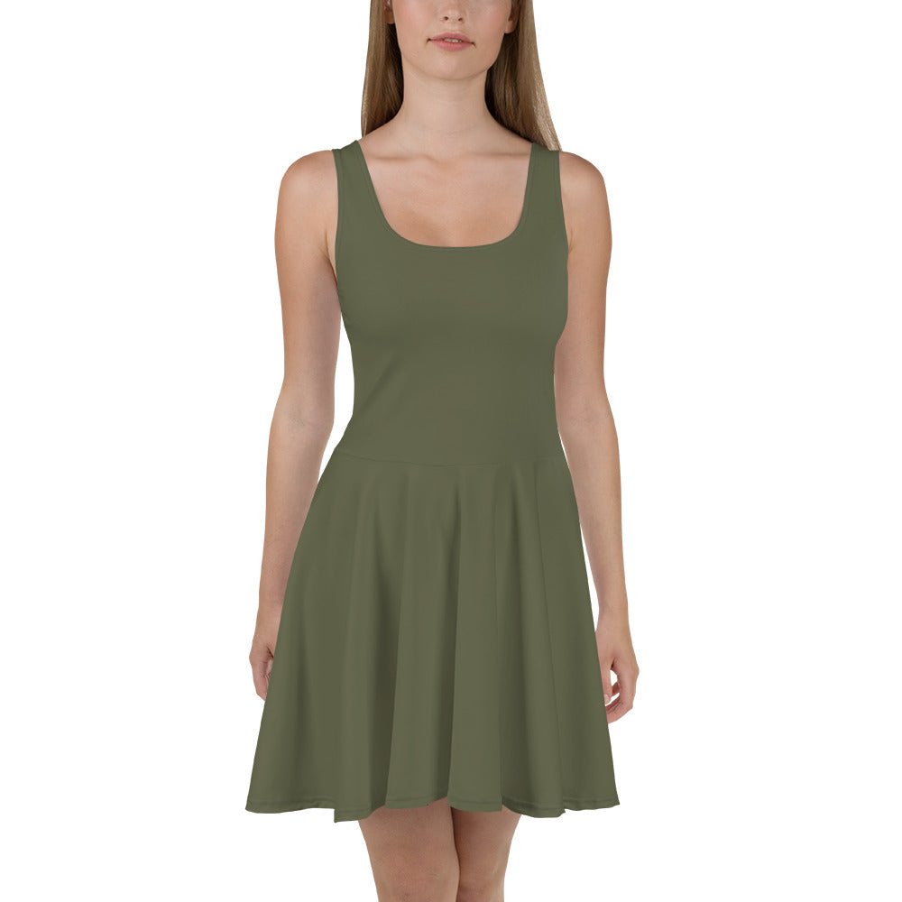 Terrarium Moss Skater Dress