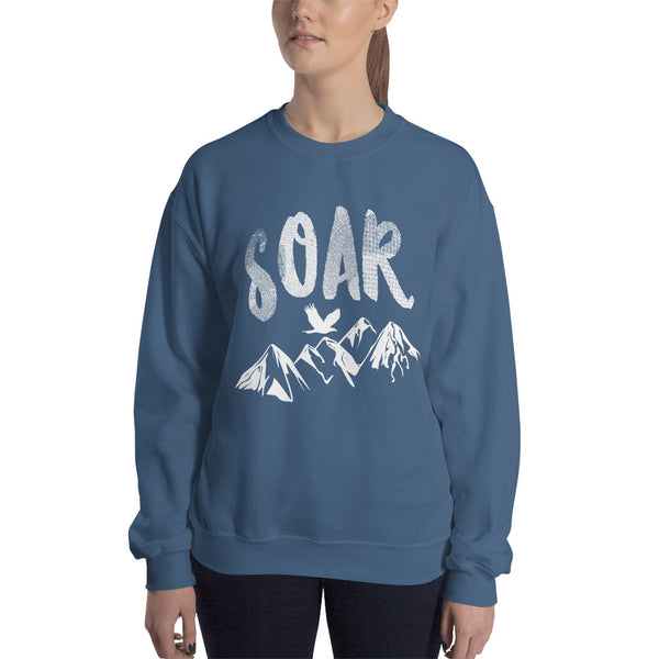 Soar White Logo Crewneck Sweatshirt