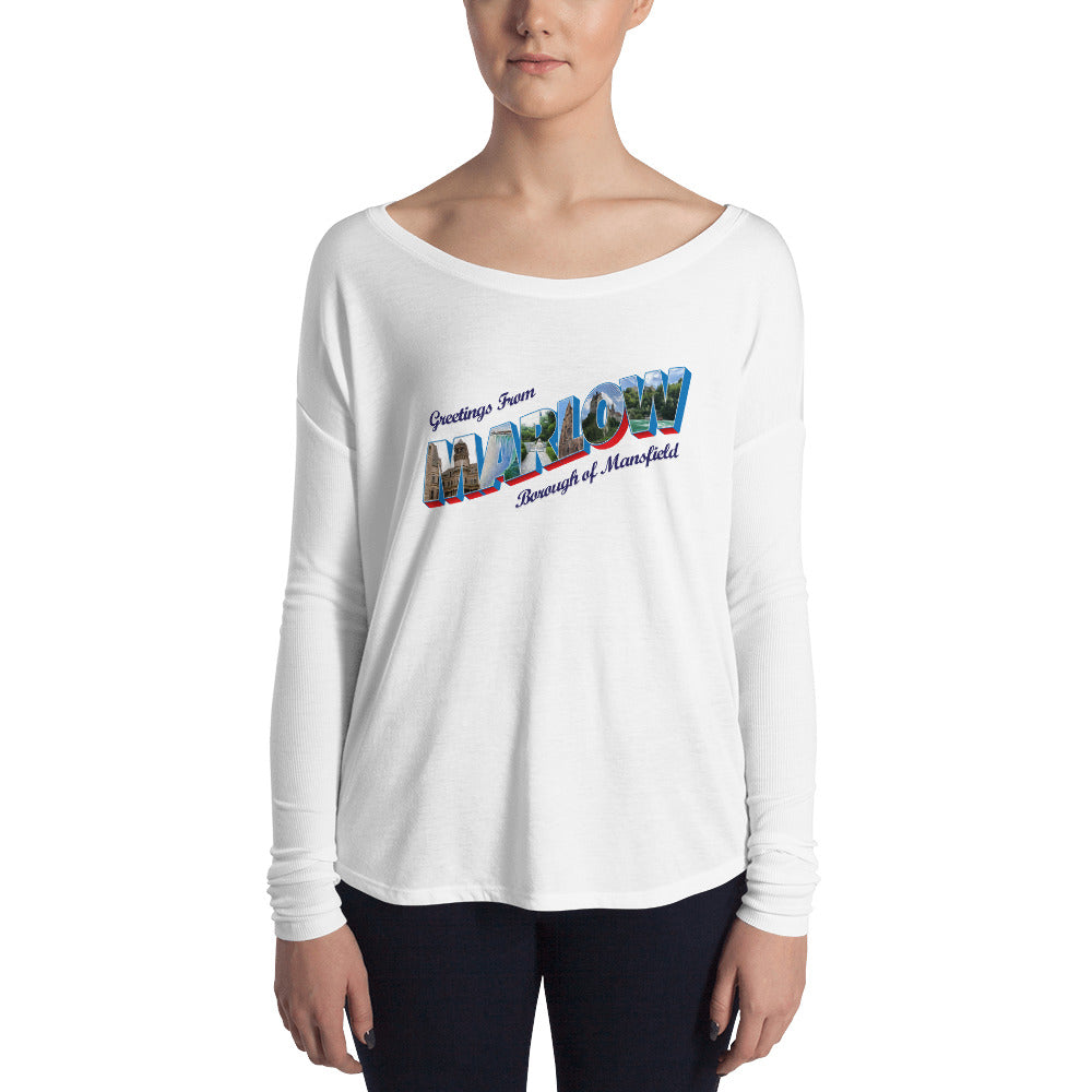 Ladies' Marlow Postcard Long Sleeve Tee