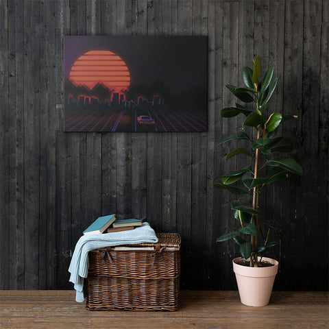 Electric Highway Canvas Wall Art