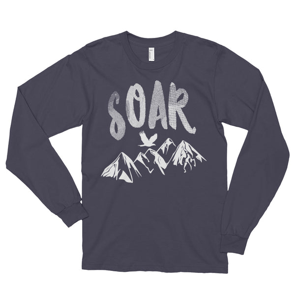 Soar White Logo Long Sleeve