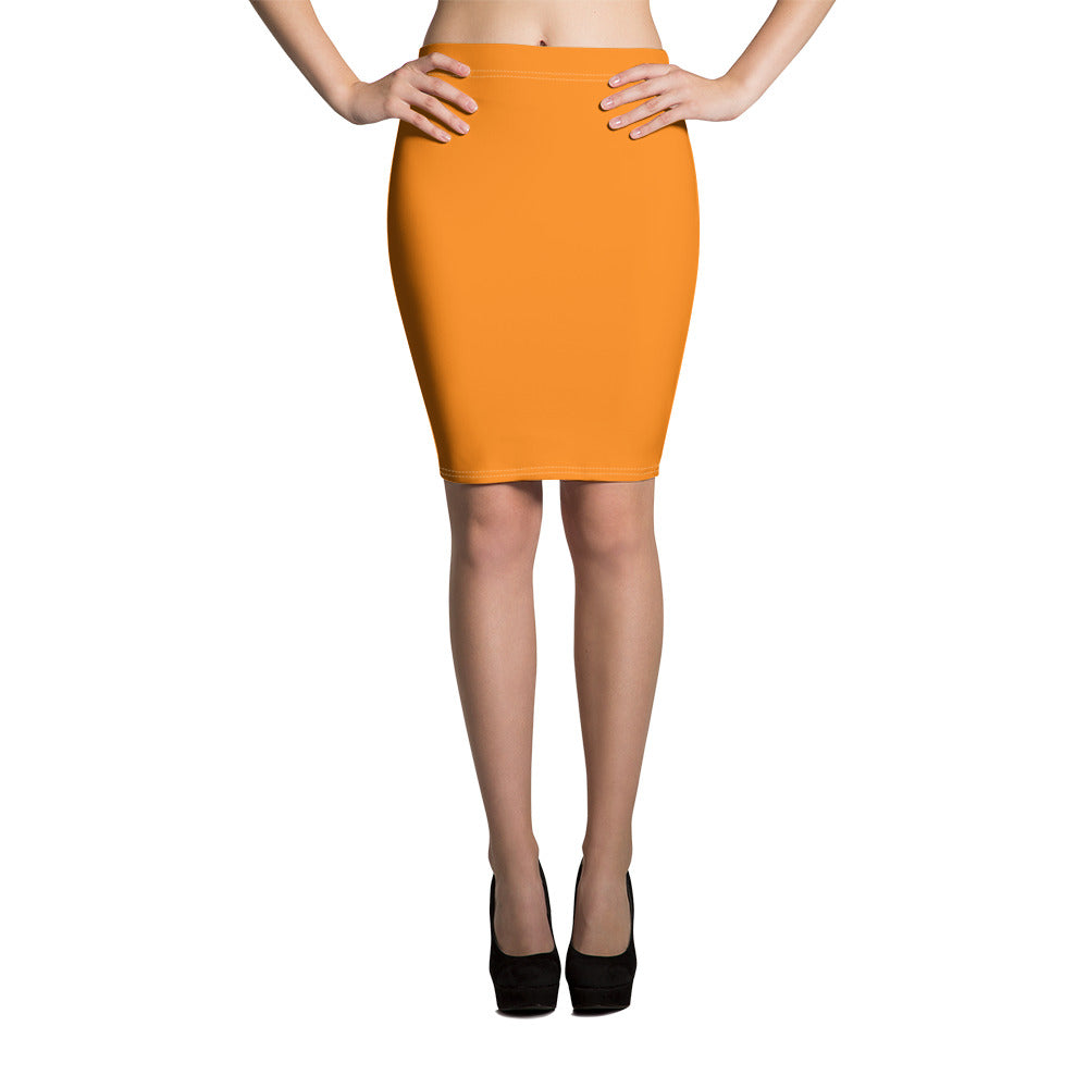 Turmeric Pencil Skirt
