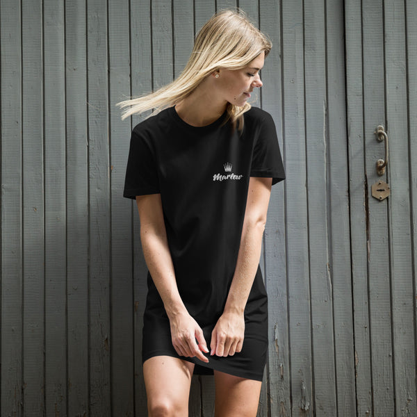 Marlow Crown Logo Stitched Organic Cotton T-Shirt Dress