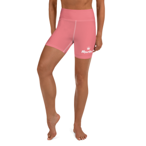 Pink Marlow Crown Logo Yoga Shorts
