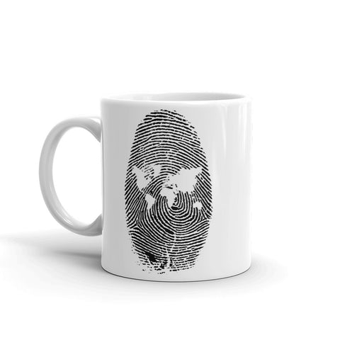 Fingerprint Map Mug