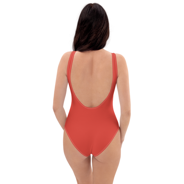 Fiesta Red One-Piece Swimsuit