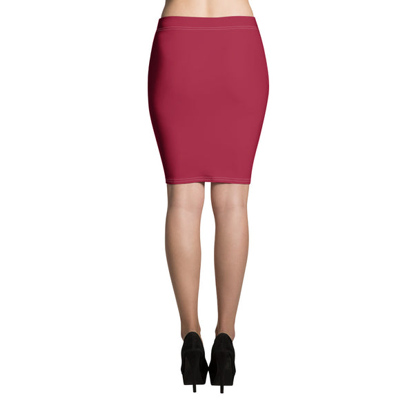 Jester Red Pencil Skirt