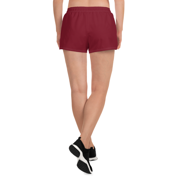 Women's Crown Logo Athletic Shorts (Maroon)