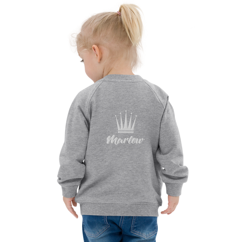 Baby Crown Logo Organic Bomber Jacket (6mos - 3yrs)