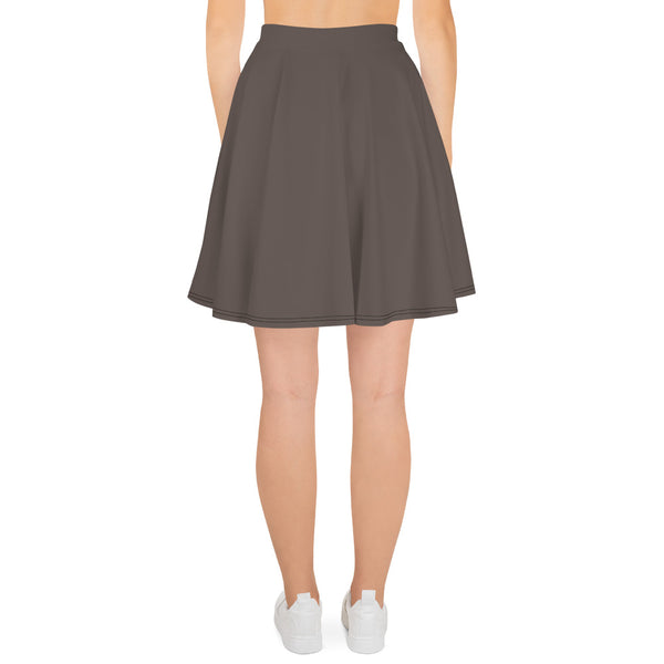 Brown Granite Skater Skirt