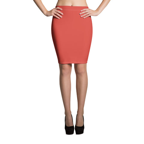 Fiesta Red Pencil Skirt