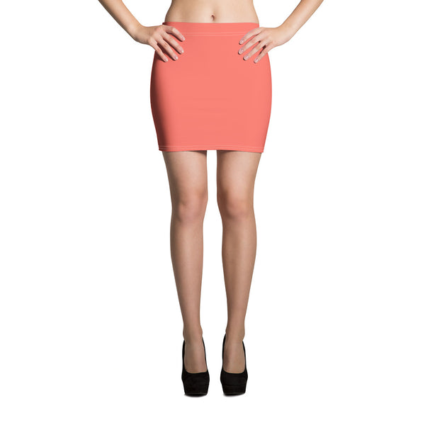 Living Coral Mini Skirt