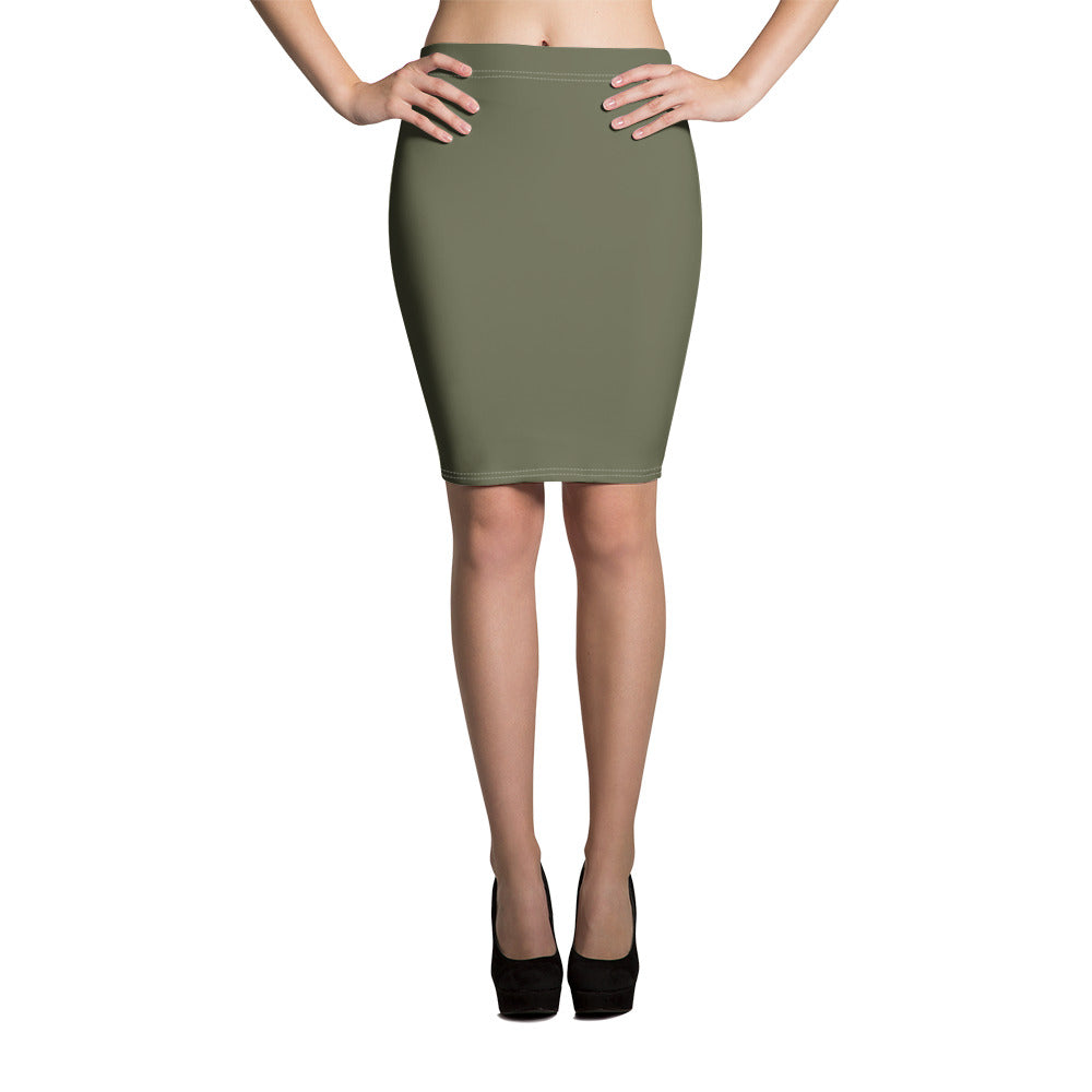 Terrarium Moss Pencil Skirt