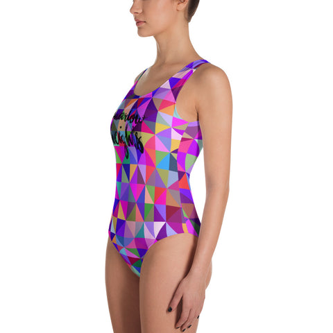 Marlow Heights Cursive One-Piece Swimsuit