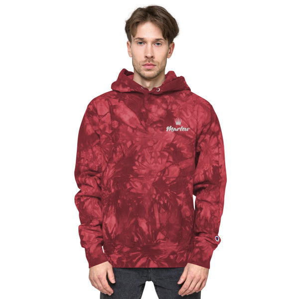 Marlow Crown Logo Embroidered Champion Tie-Dye Hoodie