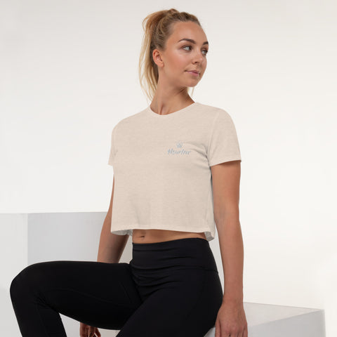 Marlow Crown Logo Embroidered Crop Tee