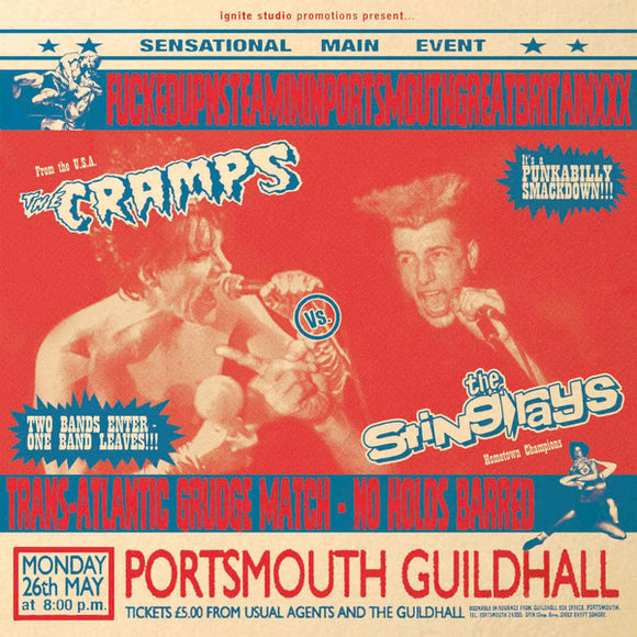 The Sting-Rays Vs. The Cramps - FUCKEDUPNSTEAMININPORTSMOUTHGREATBRITAINXXX LP
