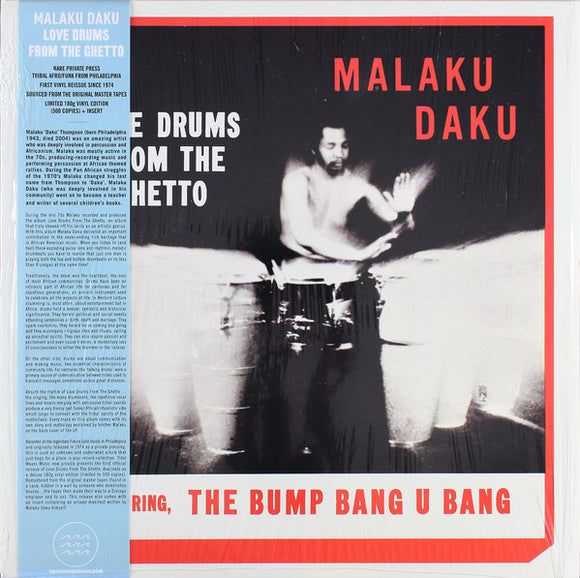 Malaku Daku - Love Drums From The Ghetto LP