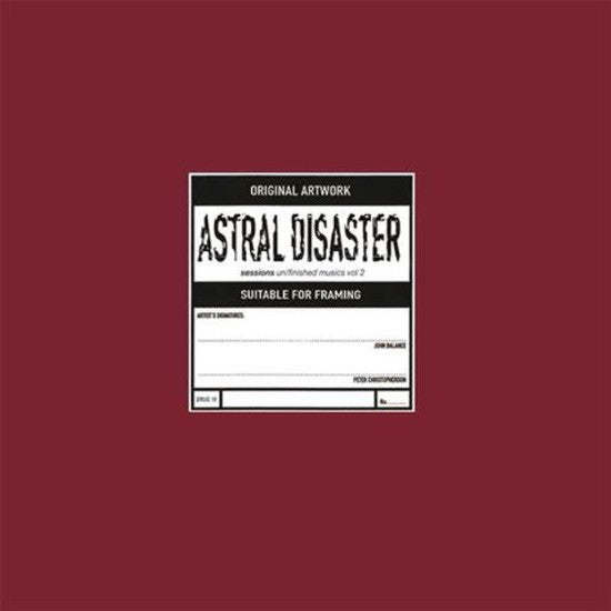 Coil - Astral Disaster Sessions Un/Finished Musics Vol. 2 LP