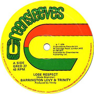Barrington Levy / Trinity / Roman Stewart - Lose Respect / Since You're Gone 12""