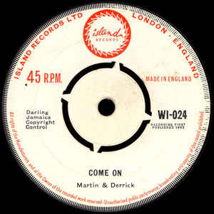 Martin & Derrick / Monte Alexander - Come On / Organisation 7