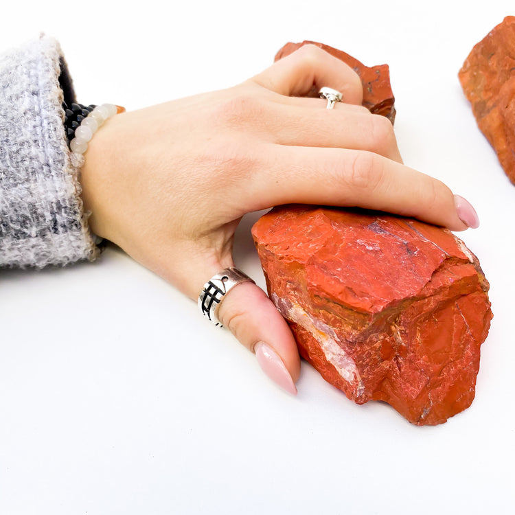 Large Raw Red Jasper
