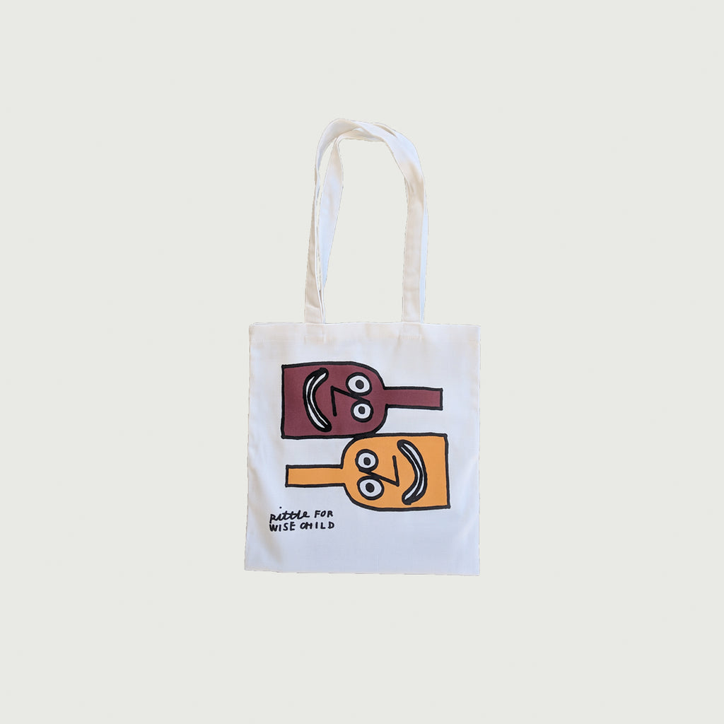 RITTLE KING for Wise Child Wine Store tote bag.