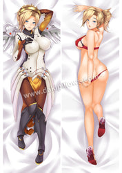Mercy - Overwatch Full body waifu japanese anime pillowcases
