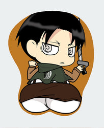 Levi Ackerman - Attack on Titan Anime Extraordinary 3D Mouse Pad Sexy Butt Wrist Rest Oppai