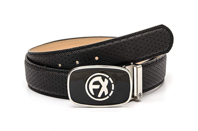 100% Leather Belt in Black
