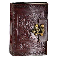 Tree Of Life Leather Blank Journal W- Latch