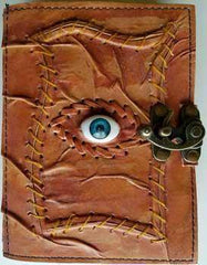 All Knowing Eye Leather Blank Book W- Latch