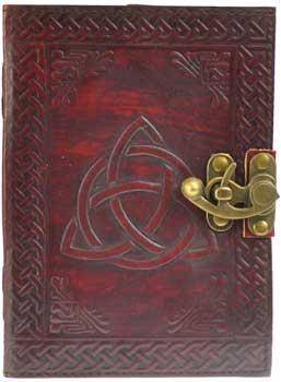 Triquetra Leather Blank Book W- Latch