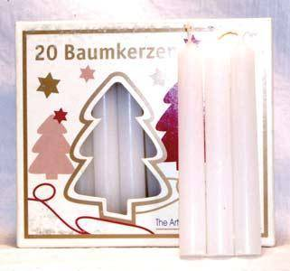 "1-2"" White Chime Candle 20 Pack"