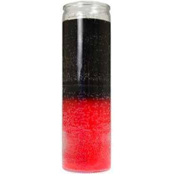 2 Color 7-day Black- Red Jar Candle